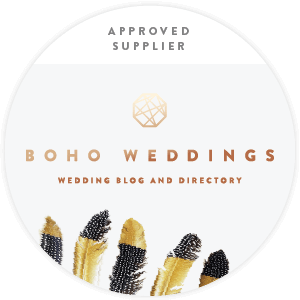 An Approved<br /> Boho Weddings Supplier