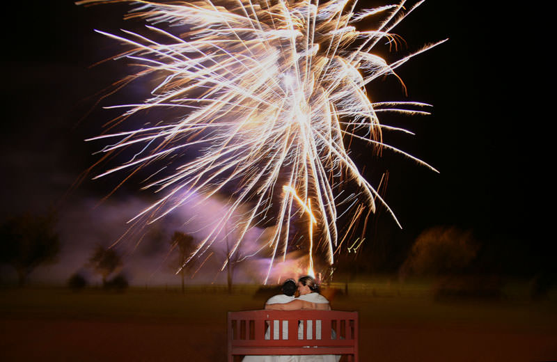 Real Weddings: Rainbows and Fireworks
