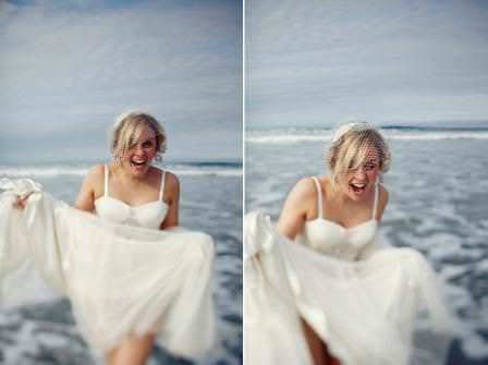 Real Weddings: A Jenny Packham trash the dress at the sea side