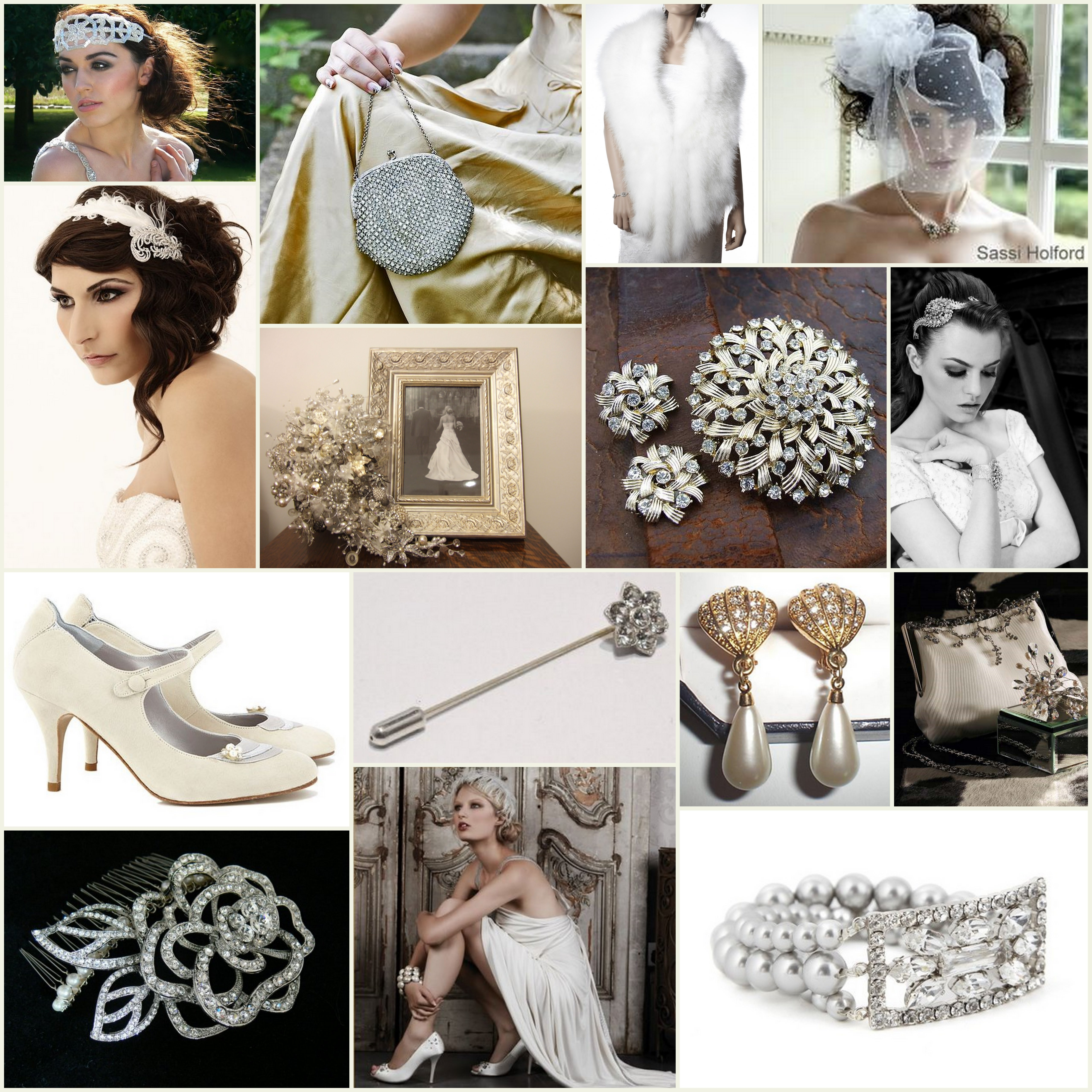Royal Wedding Accessories Classic Spring Wedding Ideas: Inspiration Board: Vintage Inspired Wedding Accessories
