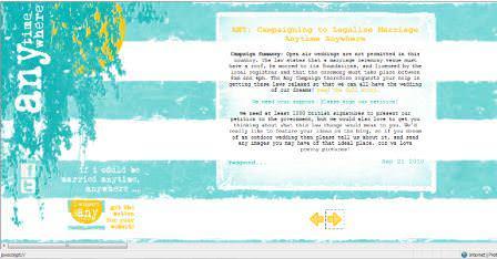 A Boho Wedding on the 'Any' campaign website