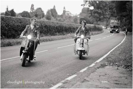 Real Weddings: A 60s inspired Mod wedding, with lots and lots of scooters!