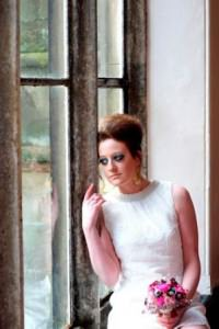 Boho plays dress up: Mini dresses and makeup.....a very 60s wedding shoot!