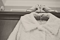 Real Weddings: Fur coats, snow and a couple made for each other