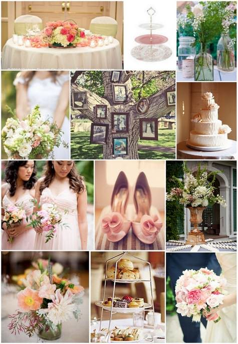 blush and peach wedding