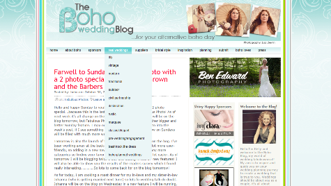 The Boho Wedding Blog