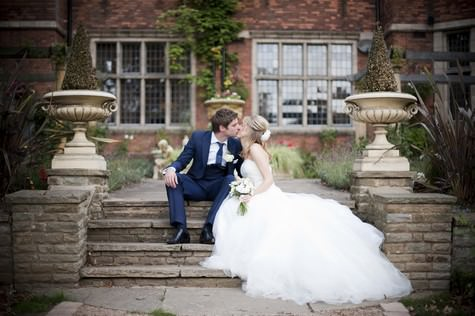 Dee and Rob's elegant pink and white wedding featuring 'The cloud'