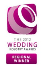 regional winner the 2012 Wedding Industry Awards