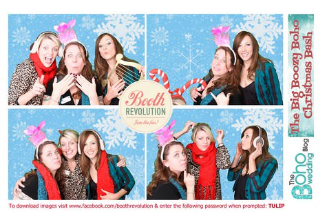 Photo booth fun from the Boho christmas party - courtesy of Booth Revolution