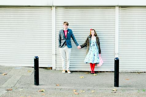quirky London engagement shoot