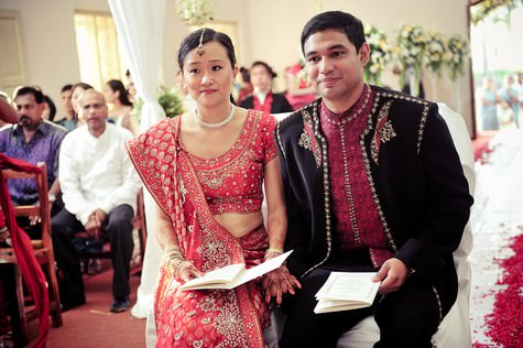 A Two Day Indian Chinese Catholic Wedding With Four Wedding