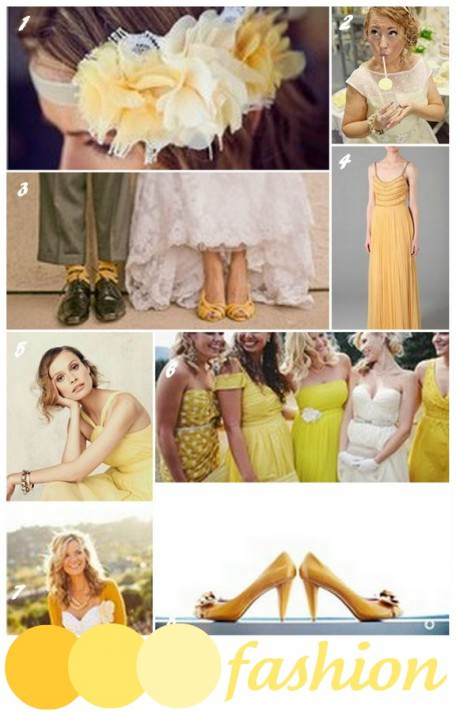 wedding trends - yellow