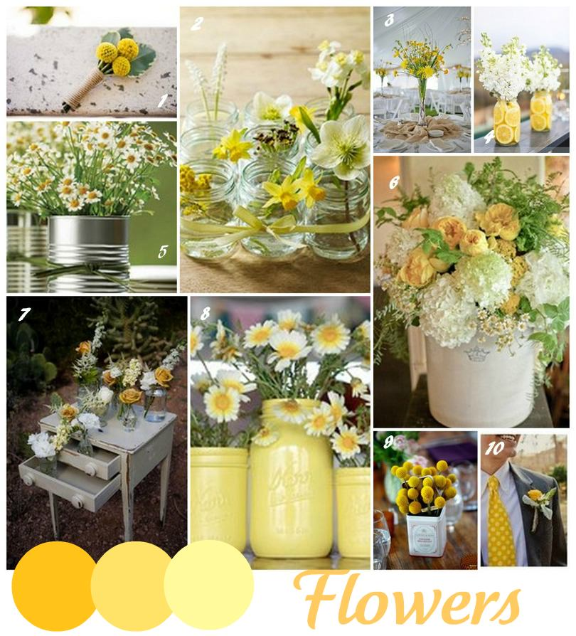 Yellow Flowers At Wedding : Wedding trends yellow boho weddings for the luxe