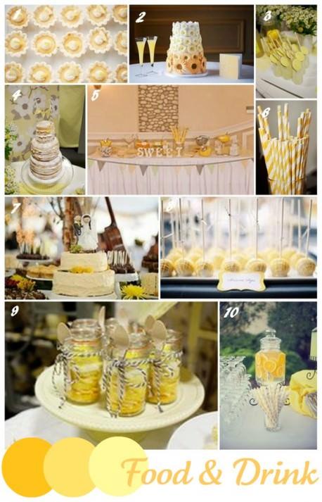 wedding trends - yellow