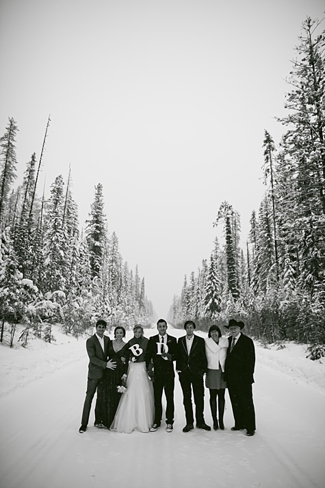 Becky and Daniel's -35 Canadian Snow Filled Lodge Wedding