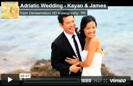 Saturday Cinema: Kayan and James' stunning wedding in Croatia