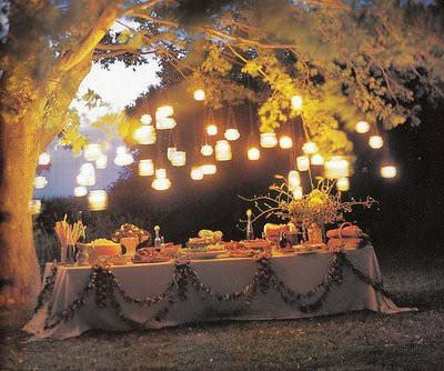Lighting Ideas for an Outdoor Wedding - Boho Weddings