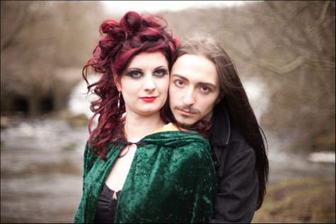 Red Hair and a Green Cape Natasha and Roberts Valentines Day Couples Shoot
