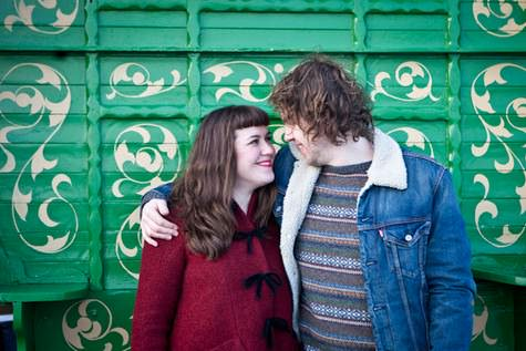 Carly and Ralph's Fun and Retro Inspired Brighton Pre Wed Shoot