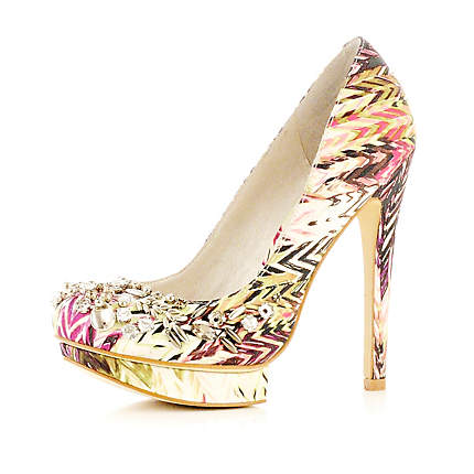 bright and bold wedding shoes