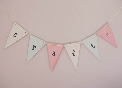DIY Tutorial: Rustic Wooden Bunting by Adore By Chloe