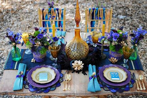 Purple Turquoise And Gold An Egyptian Inspired Styled