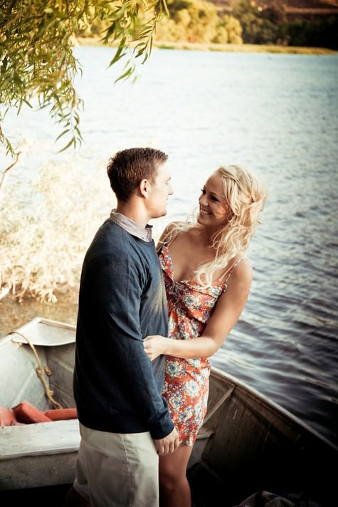 Jen and Kyle's 'Love Boat' engagement shoot in sunny California