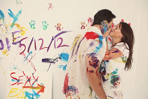 paint fight engagement shoot