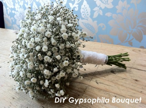 DIY Tutorial Gypsophila Bouquet And Buttonhole