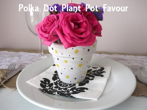 Boho Weddings & DIY Tutorial: Polka Dot Plant Pot Favours - Boho Weddings For the ...