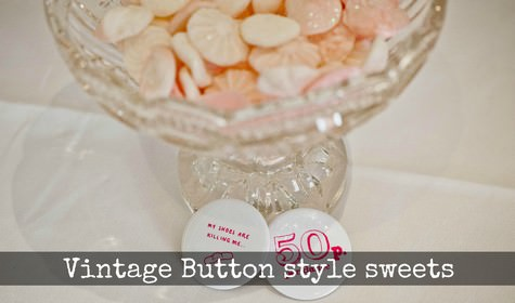 DIY vintage button seets