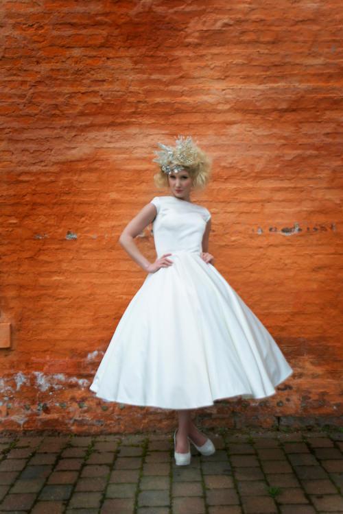 1950s Inspired Tea Length Dress