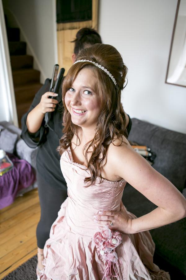 Pink Ian Stuart Wedding Dress