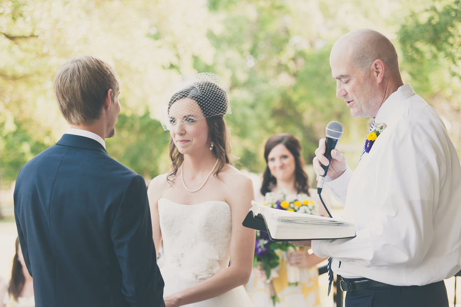 Texan Wedding outdoor ceremony