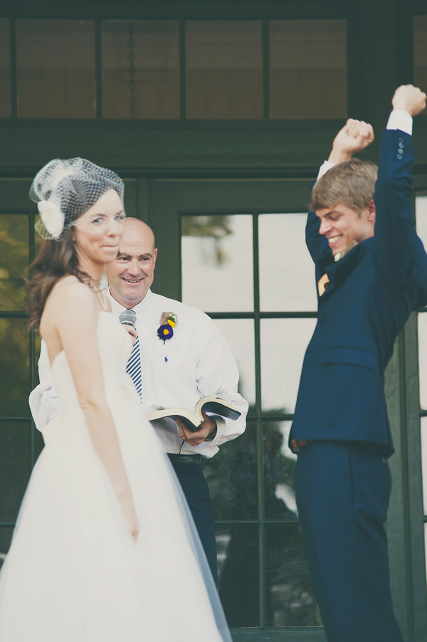 Texan Wedding outdoor ceremony