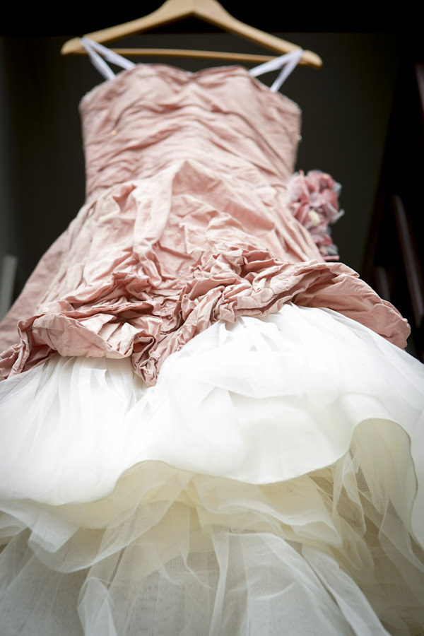 pink Ian Stuart wedding dress