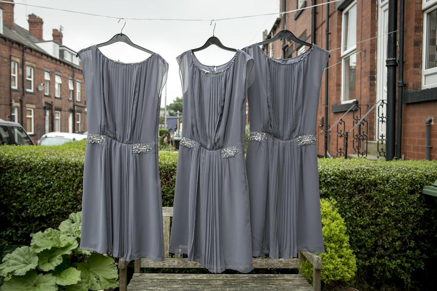 grey bridesmaids dress