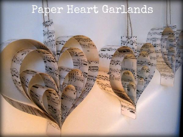 paper heart garlands