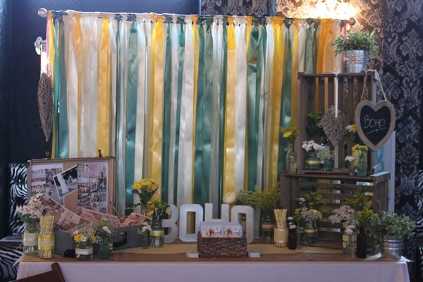 my stand at the designer vintage bridal show