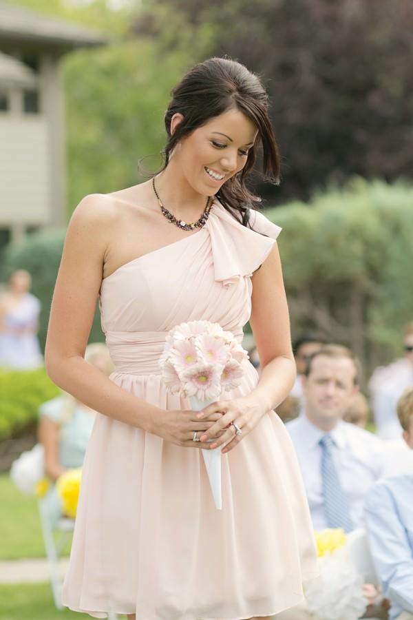 pastel coloured bridesmaid