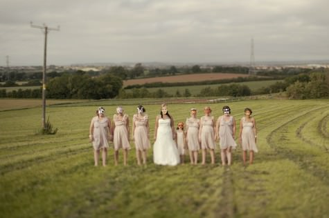 English country farm wedding