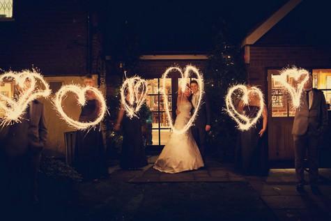 DIY new years eve wedding