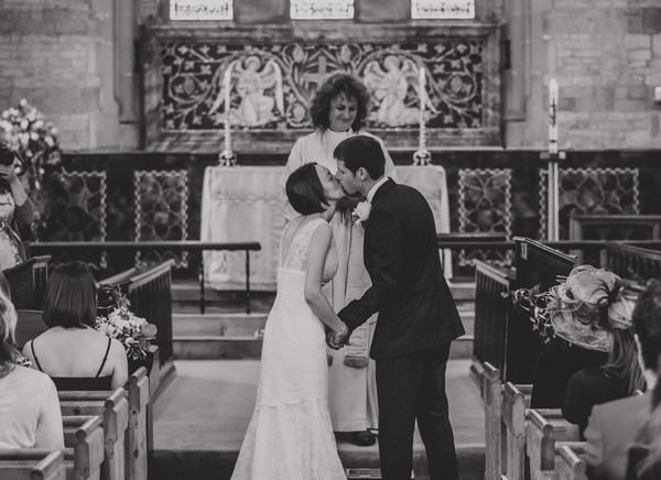wedding ceremony at St Marys Magdalene church in Sheet
