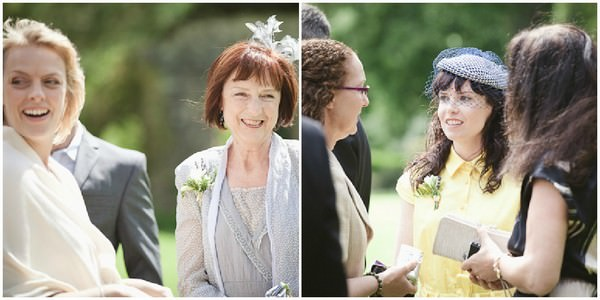 wedding guests at a south Devon wedding