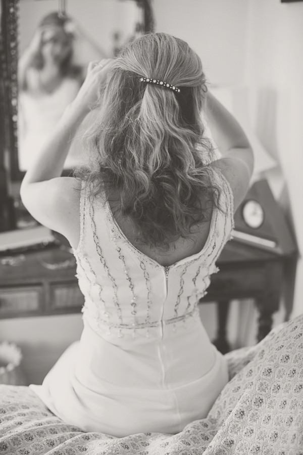 bride in a vintage wedding dress
