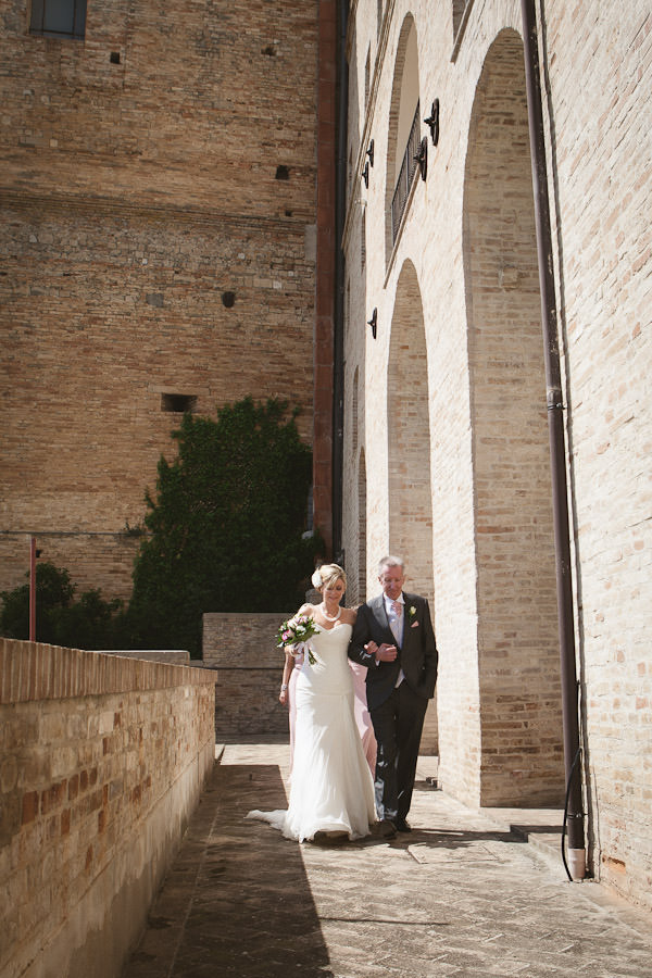 outdoor wedding ceremony in Italy