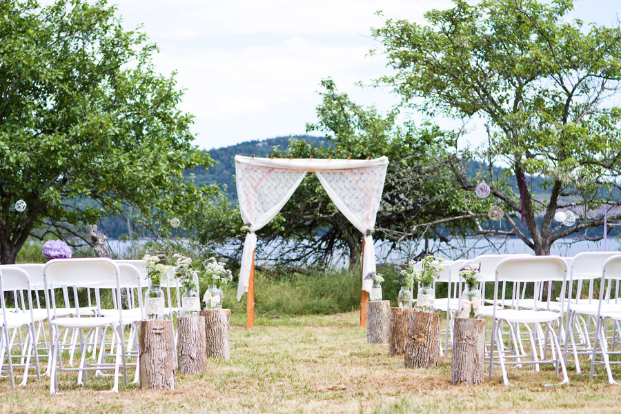 outdoor wedding ceremony area