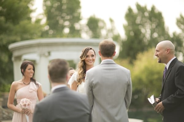 back garden wedding ceremony