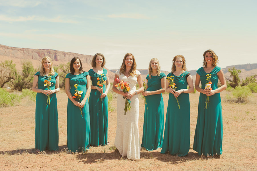 bridesmaids in the desert