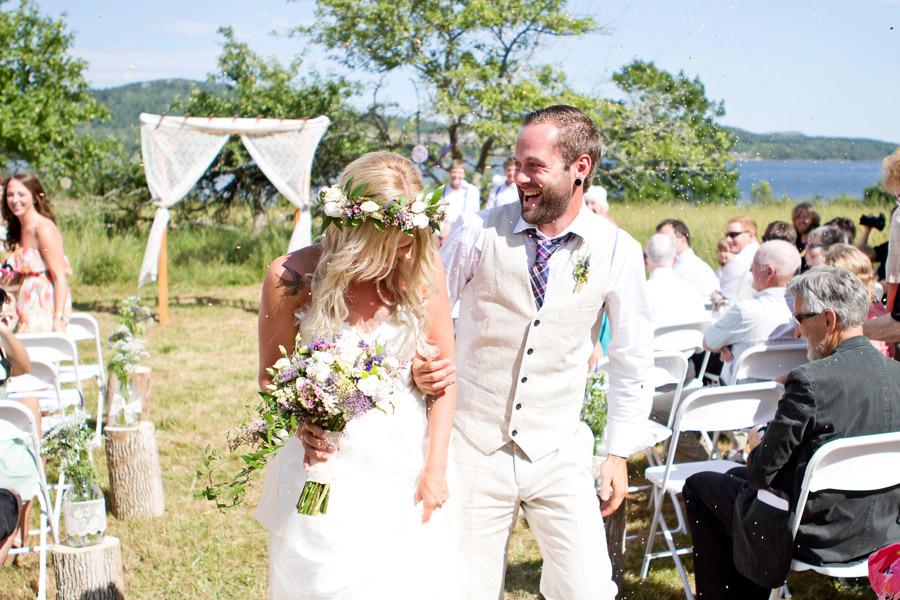 bohemian outdoor wedding ceremony